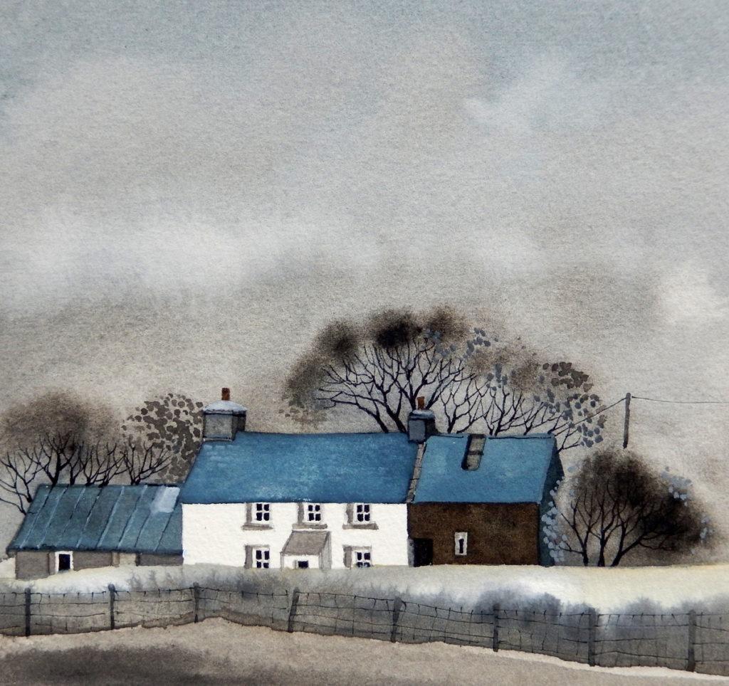 Farm in the mist